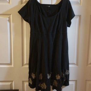 Love Bird Embroidered Dress